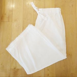 Anthro's Cloth & Stone White Linen Drawstring Pant
